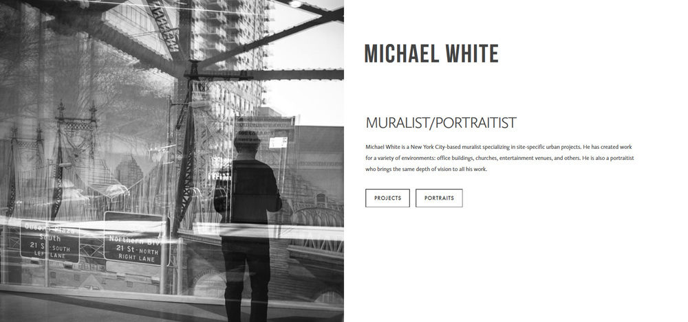 Michael White Muralist and Portraitist | Marksmen Studio Brooklyn | Digital Design