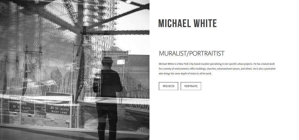 Michael White Muralist and Portraitist | Marksmen Studio Brooklyn | Squarespace Website Design