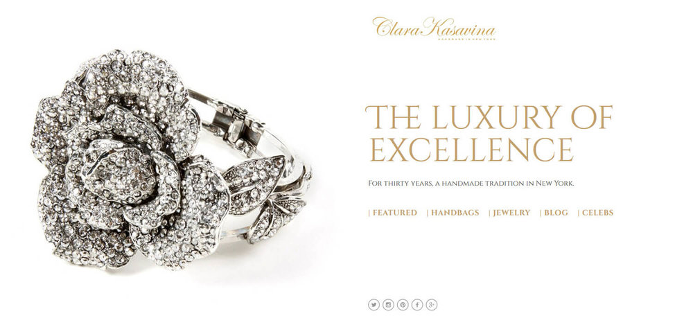 Clara Kasavina Squarespace cover page  | Fashion website | Marksmen Studio Brooklyn