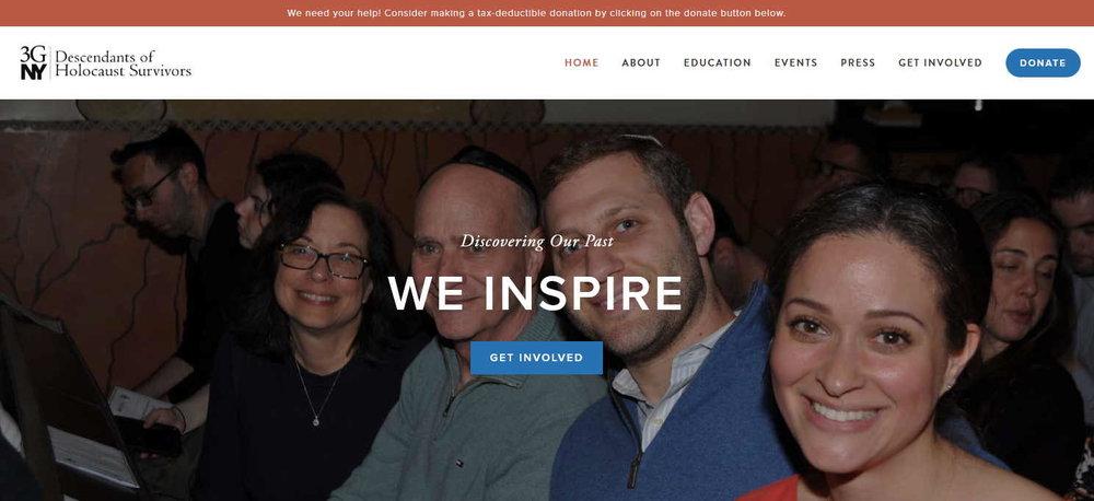 Nonprofit Squarespace website | 3GNY | Marksmen Studio Brooklyn