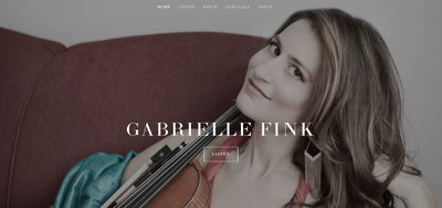 Musician Squarespace website | Gabrielle Fink | Marksmen Studio Brooklyn