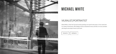 Artist squarespace website | Michael White | Marksmen Studio Brooklyn