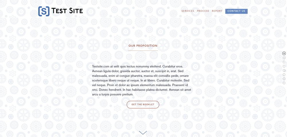 An example of using an SVG background pattern on a site in Squarespace.