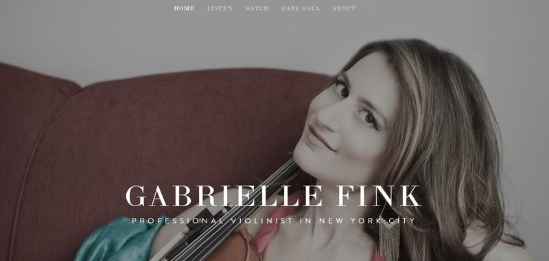 - Page One: professional violinist New YorkThere is a slew of ambitious violinists in New York City. Almost all of them have websites. But we got Gabrielle Fink to the first page of Google with an effective keyword strategy, ranking her highly while avoiding a
