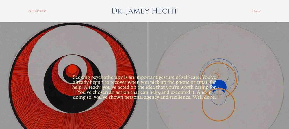 Marksmen Studio's  therapist website for Dr. Jamey Hecht  of Beverly Hills, CA