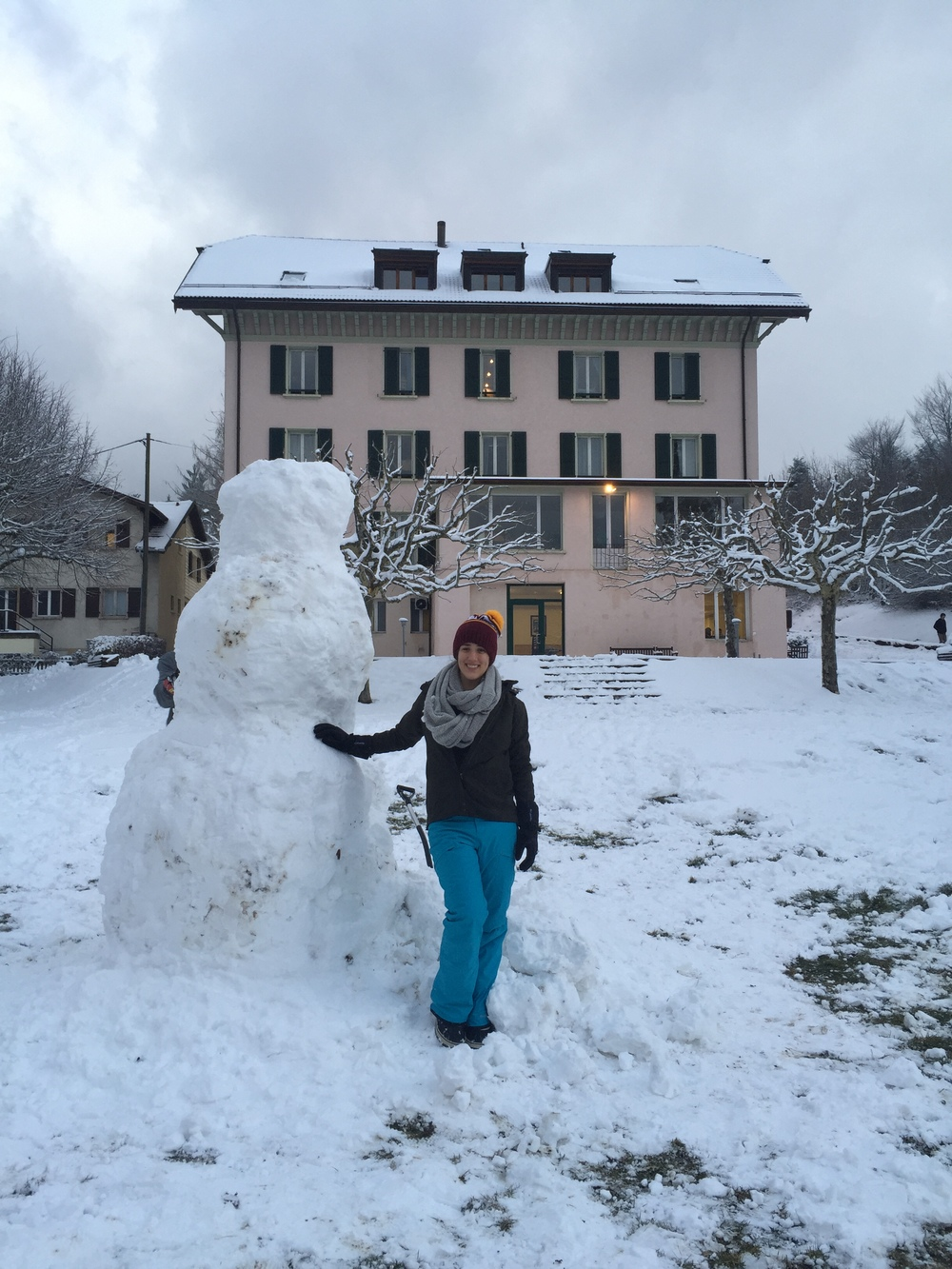 The 3 meter (9ft) snowman I built with help.
