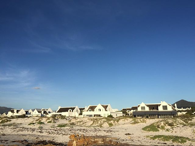 Kommetjie. Cape Dutch style beach houses.
