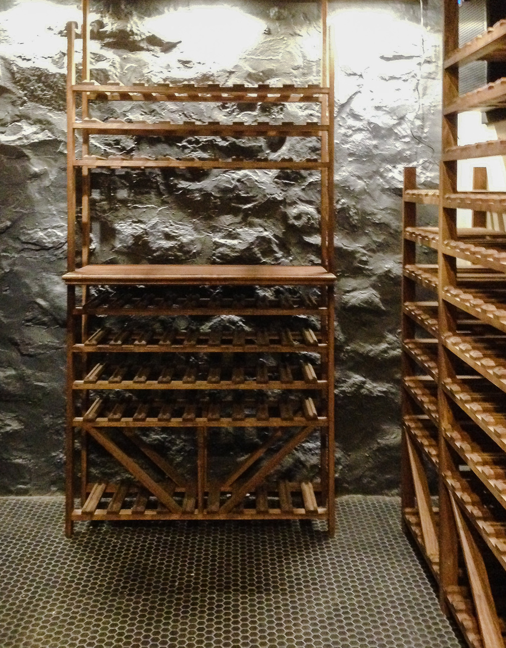 Wine Cellar Rack & Wall Detail