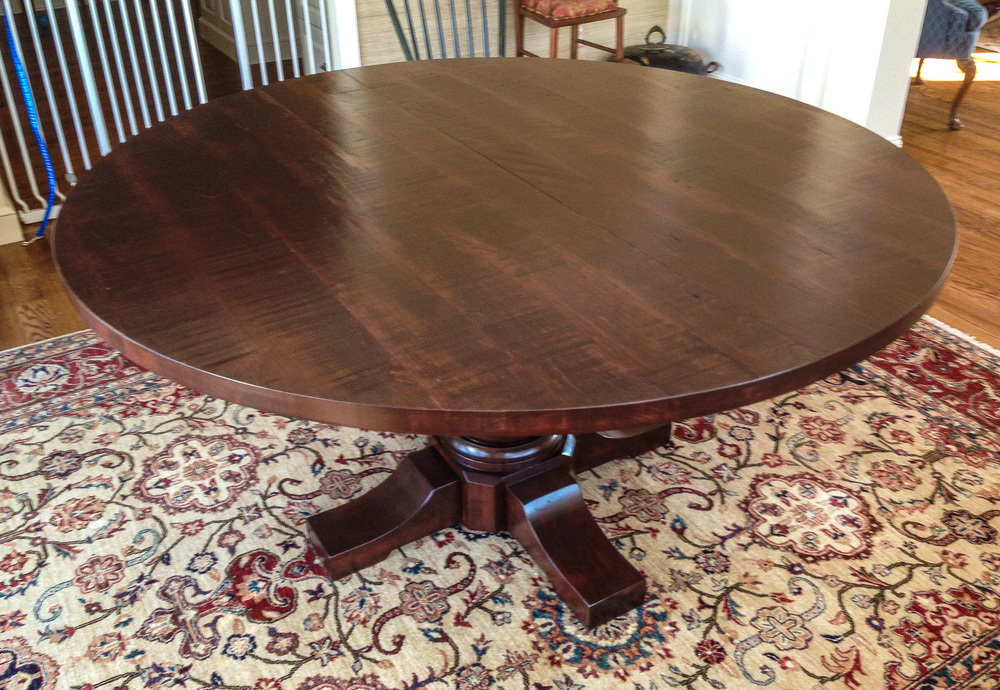 Round Dining Table, Pedestal Base