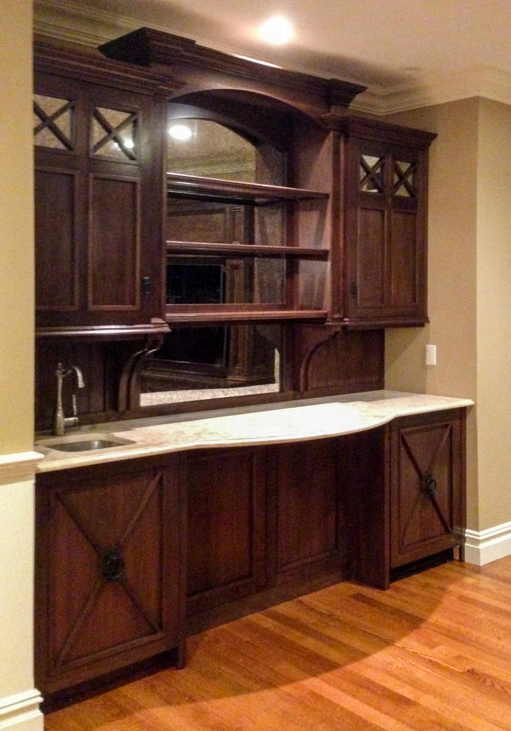 Custom Built-In Wet Bar