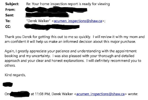 There was some back and forth regarding the inspection appointment, with it being postponed and then back on again in the same day. I didn't take it personally and accommodated my client.  Real estate can be stressful and emotional for buyers, and I recognize that.