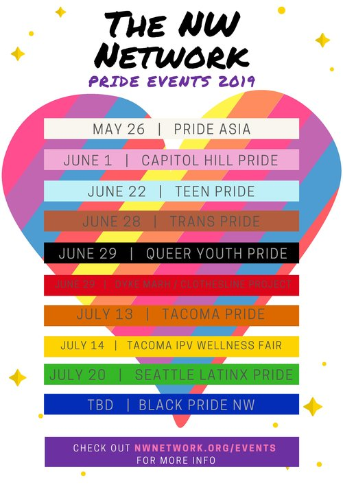 Pride Month Calendar 2019.News And Events The Nw Network