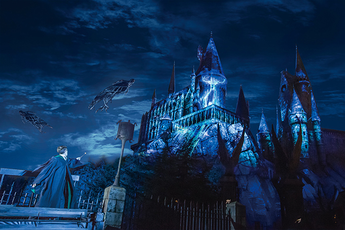 "Promo photo for ""Expecto Patronum Night Show"" at Universal Studios in Osaka, Japan"