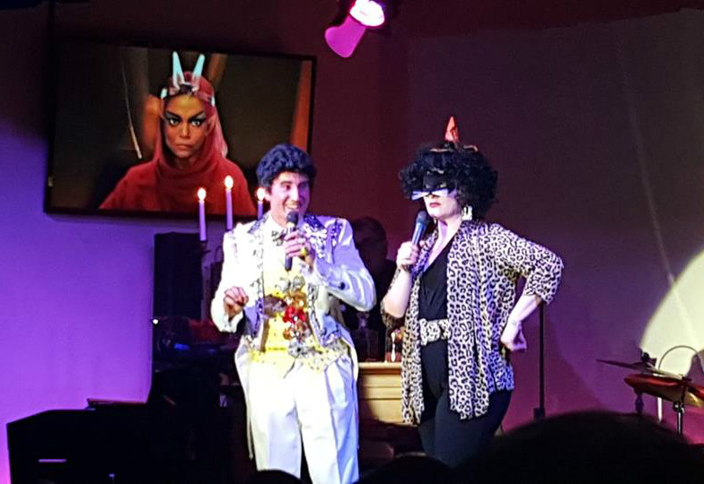 Liberace (David Saffert) & Eartha Kitt (Jillian Snow Harris) at the Tony Starlight Showroom