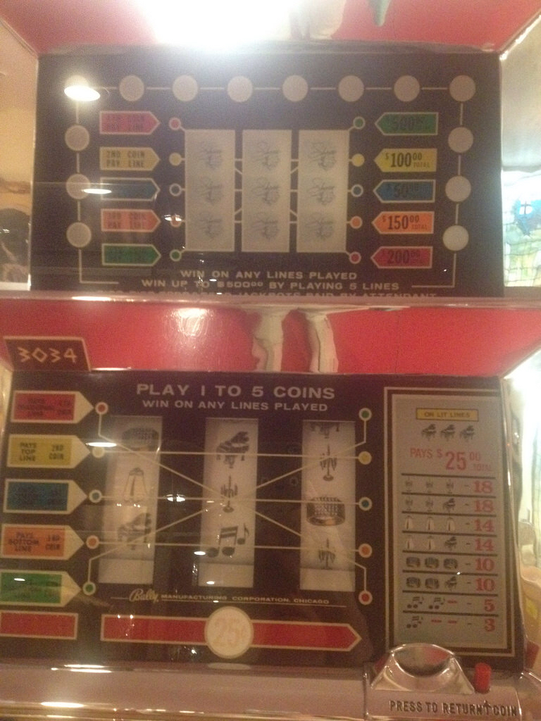 "A ""Liberace"" slot machine"