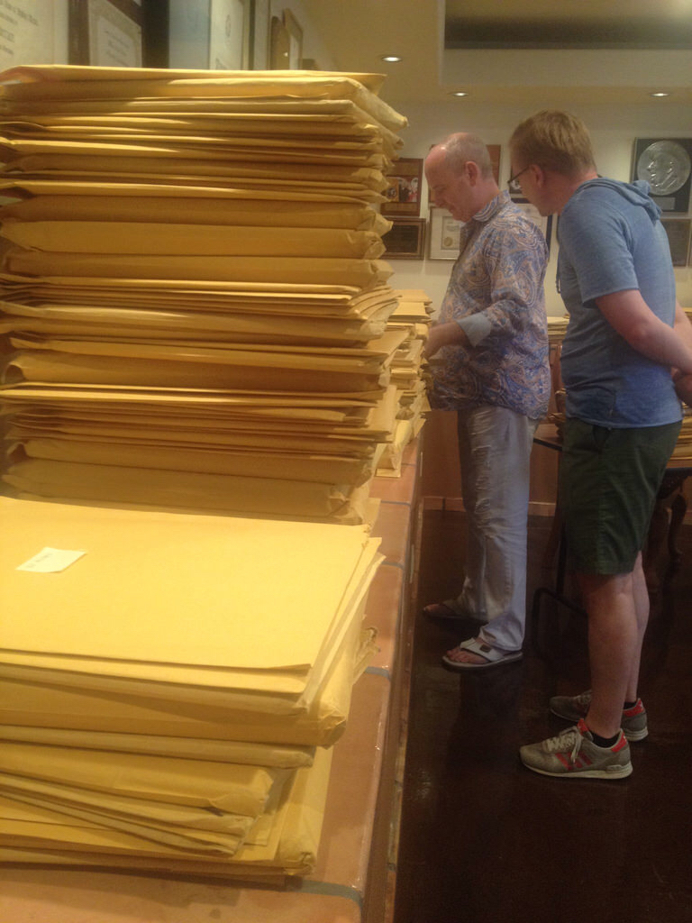 Stacks of original Liberace arrangements by Bo Ayars