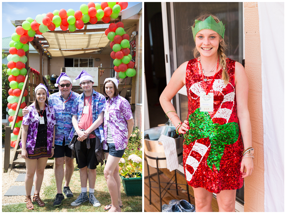 Left: Best dressed (team category), Peter's clan. Right: Best dressed (individual category), Maritta