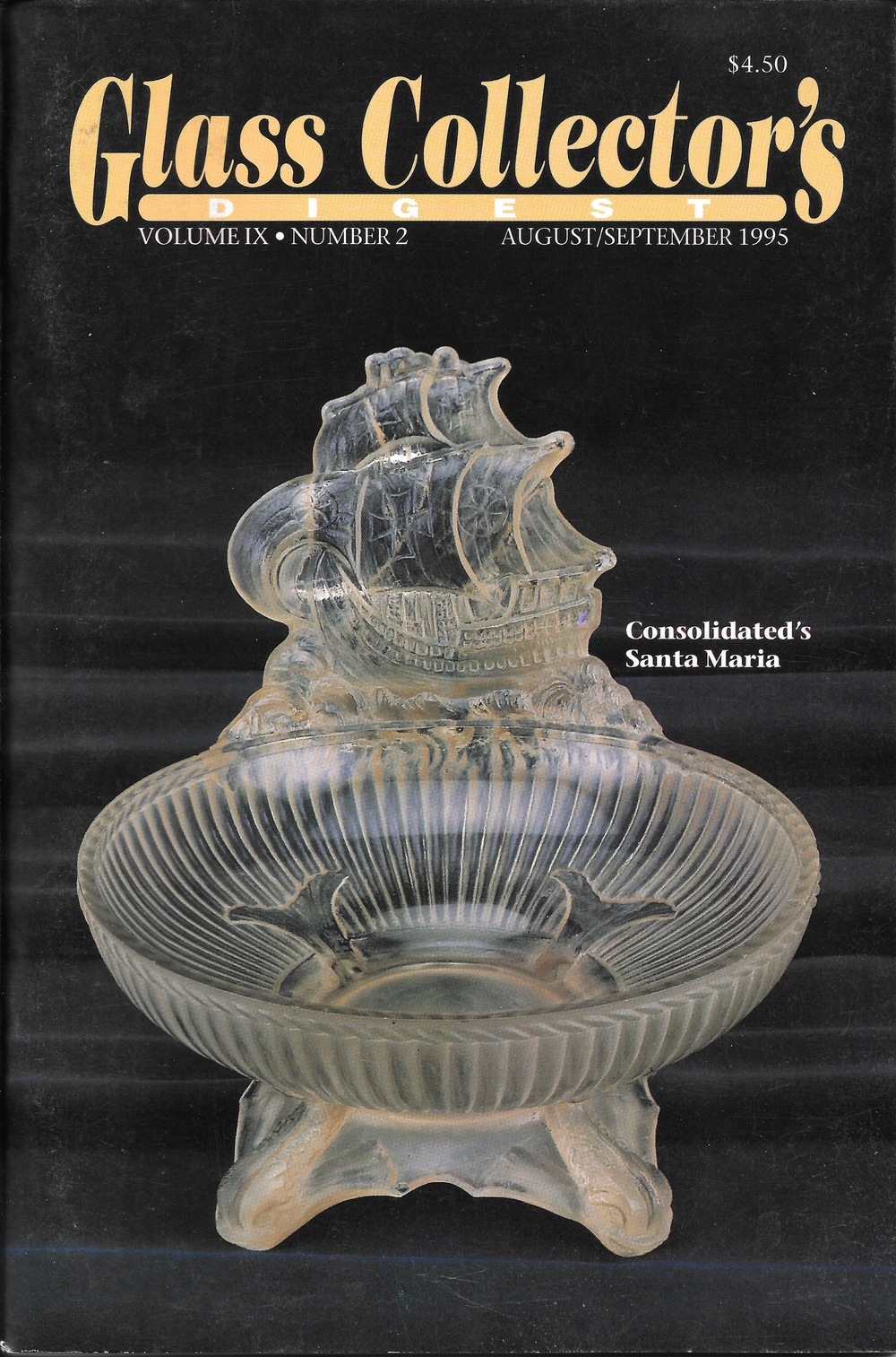 Cover of  Glass Collector's Digest , August/September 1995.