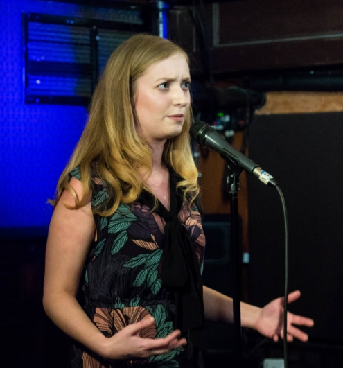"""Emily on stage at Union Hall. I call this one """"WTF, Spasmodic Dysphonia?"""""""