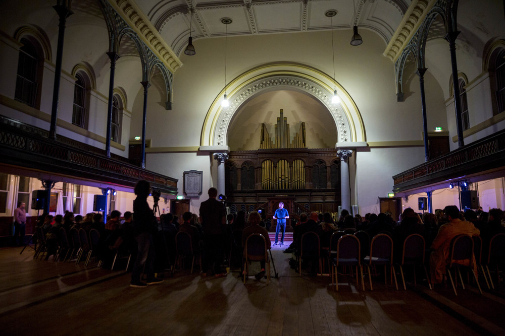 Henry told his story at Round Chapel in London, at our first show in partnership with the British Science Association.