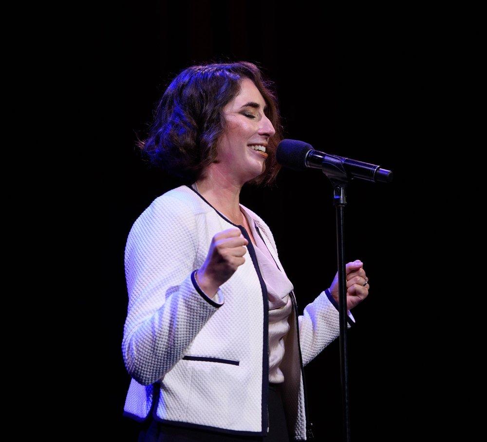 Megan Hatlen at the Oberon Theatre in Cambridge.