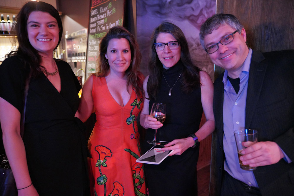 From left to right: Shannon Palus, journalist for Wirecutter/New York Times; Sarah Austin Jenness, executive producer of The Moth; Jenifer Hixson, senior director of The Moth; and Ben Lillie, chairman of The Story Collider's board.