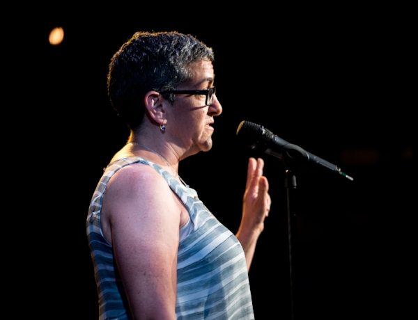 Tracey Segarra shares her story at Caveat In New York City last June. Photo by Zhen Qin.