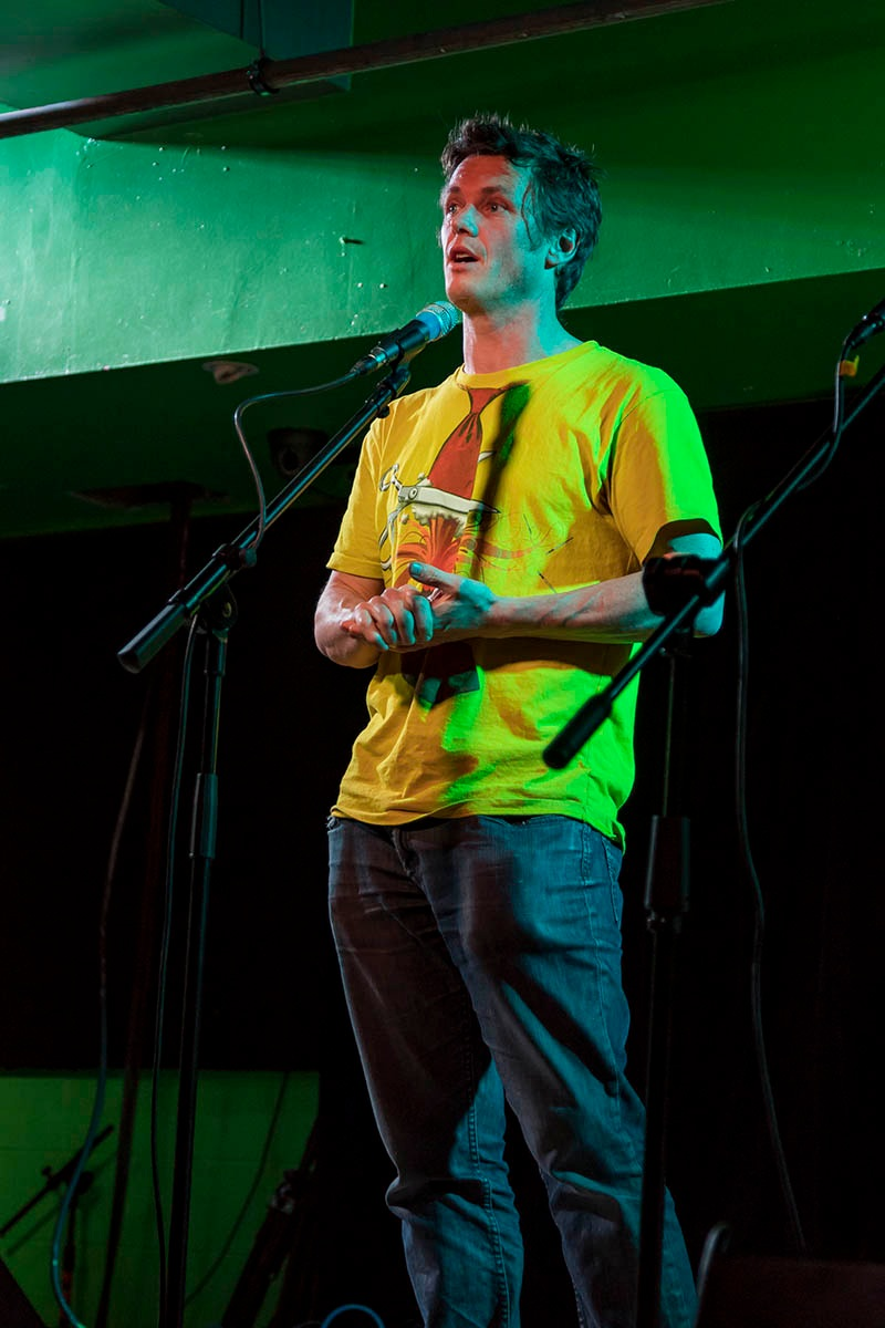 Ben Kennedy shares his story at Meow in Wellington, New Zealand. Photo by Gerry Le Roux..