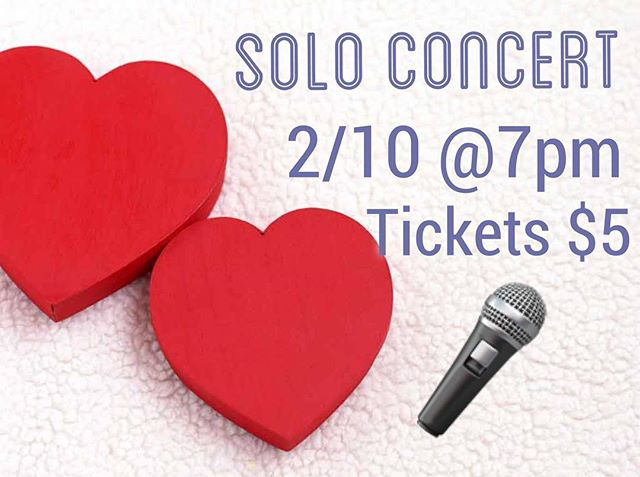 Solo concert is February 10th at 7pm! Tickets are $5! Invite friends and family to this wonderful event!❤🎤 #choir #sjhhs