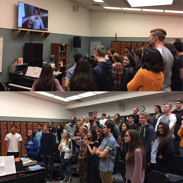 Amazing video clinic  with @sydneyguillaume Thank you for working with us!🎶🎤 #sjhhs #choir