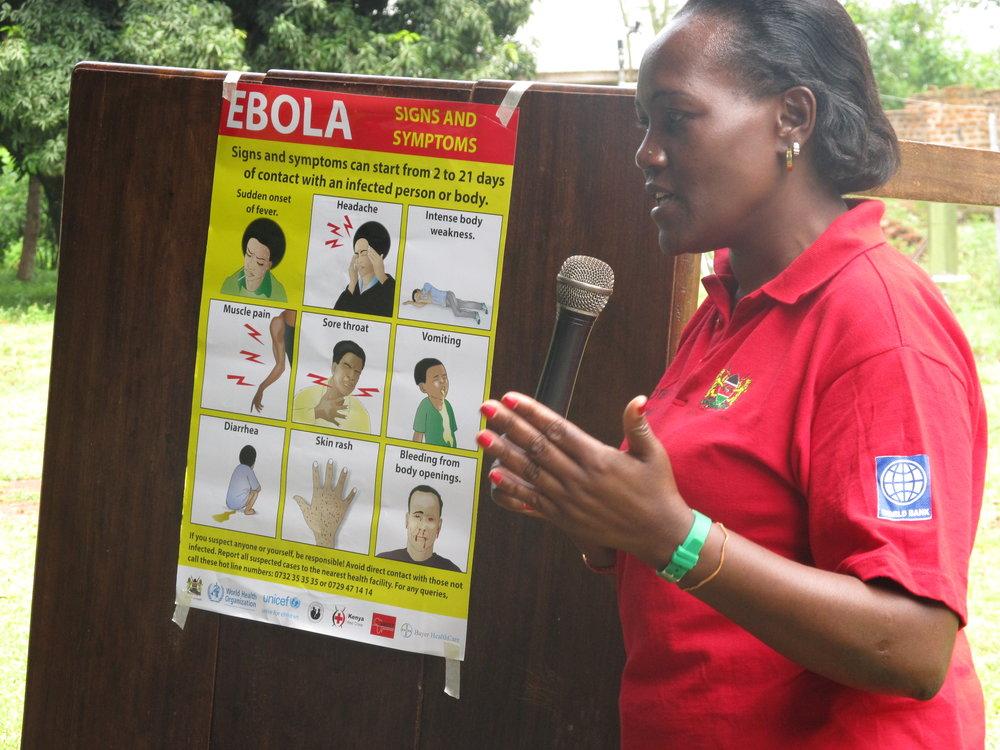 Ebola training.
