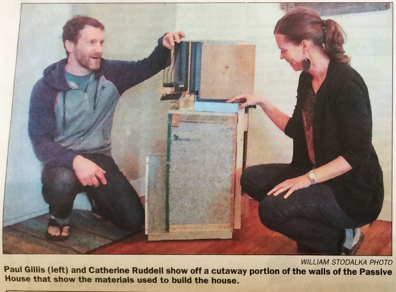 Local newspaper clipping - we are great tour guides! #cityfsjpassivehouse