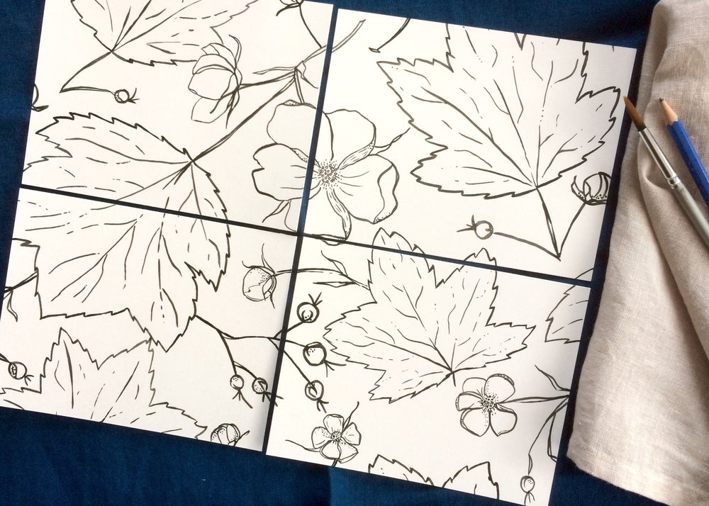 Surface Patterns with India Ink