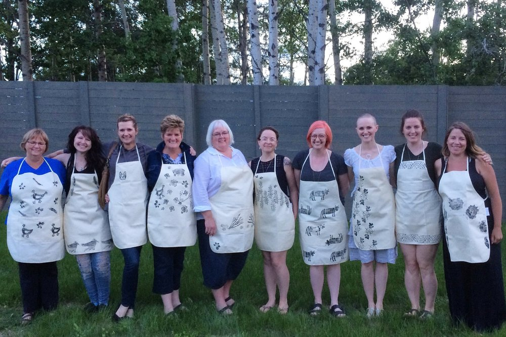 Block Printed Kitchen Apron Workshop
