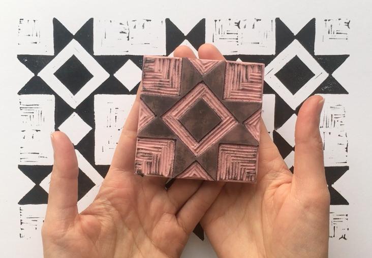 Modern Quilt Block Print