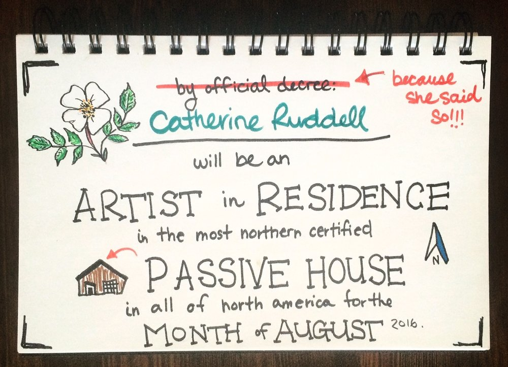 Catherine Ruddell Artist in Residence in a Passive House