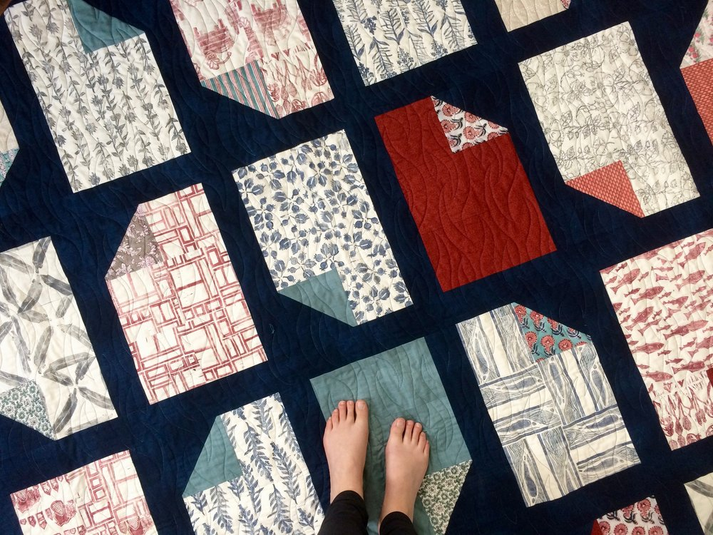 Creatively Sustained Block Printed Quilt
