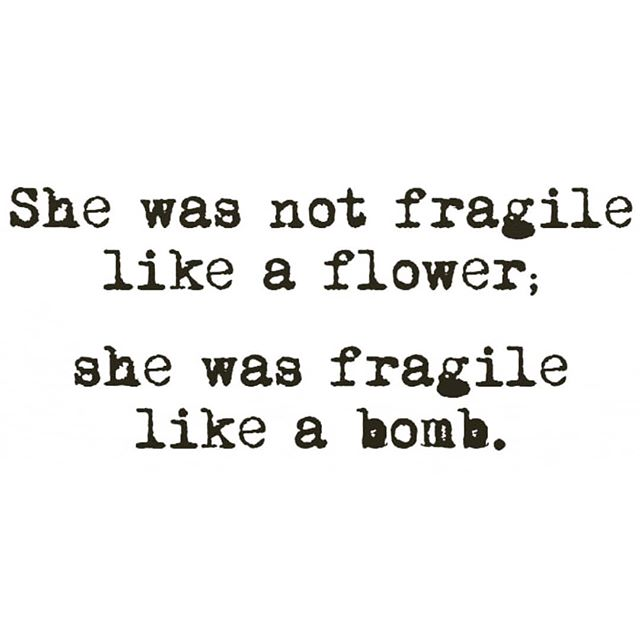 """Fragila ca o bombita"" 🙈😂 · Don.t be fragile like a flower, be fragile like a bomb #handlewithcare 🌹🌹🌹 @real_life_wonder_woman"