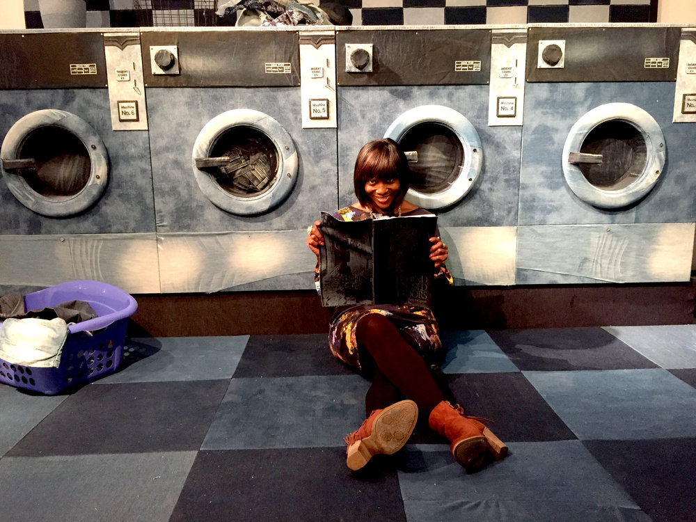 The BBC's Brenda Emmanus in My Beautiful Laundrette installation