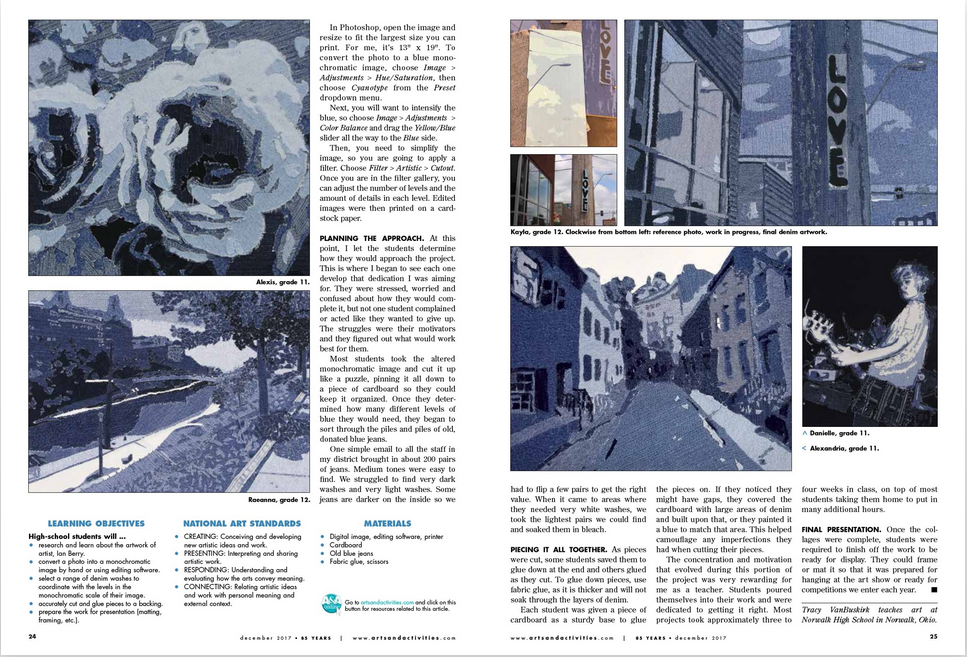 one student remade one of Ian Berry's pieces, a street he used to live on in Sweden.