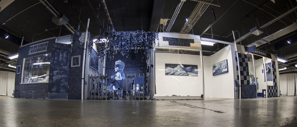 Ian Berry's Installation in Kentucky that was made with some use of the Tonello Lazer Blade and Creative Room in Italy