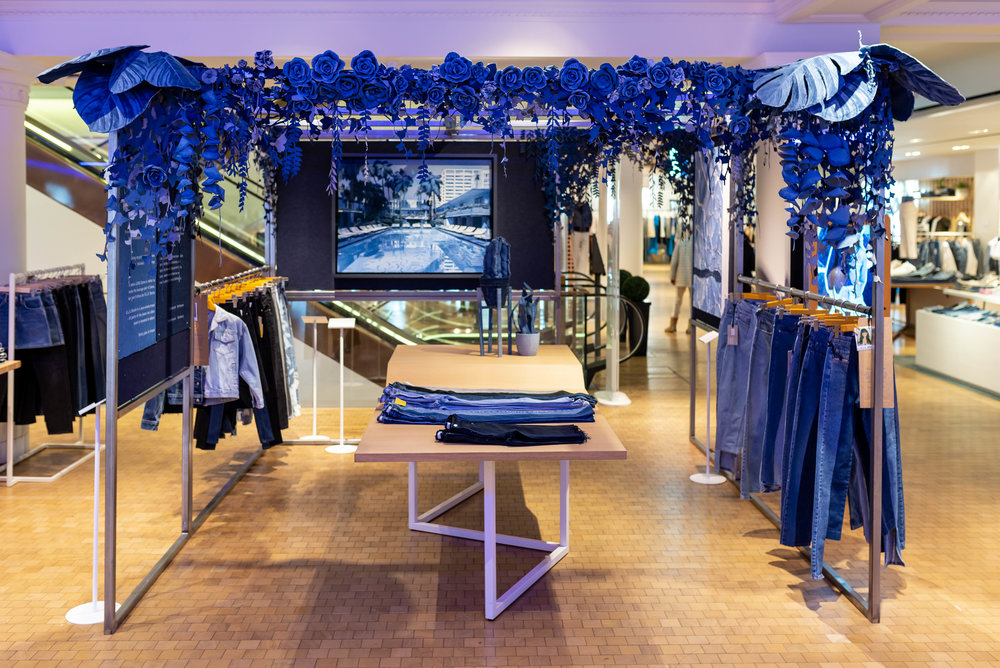Selfridges & Co London   in the Denim Studio, floor 3 Feb/March 2019