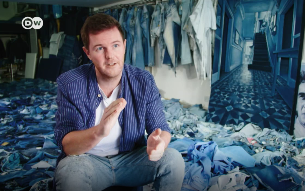 Watch the report on Ian Berry's art in denim  here