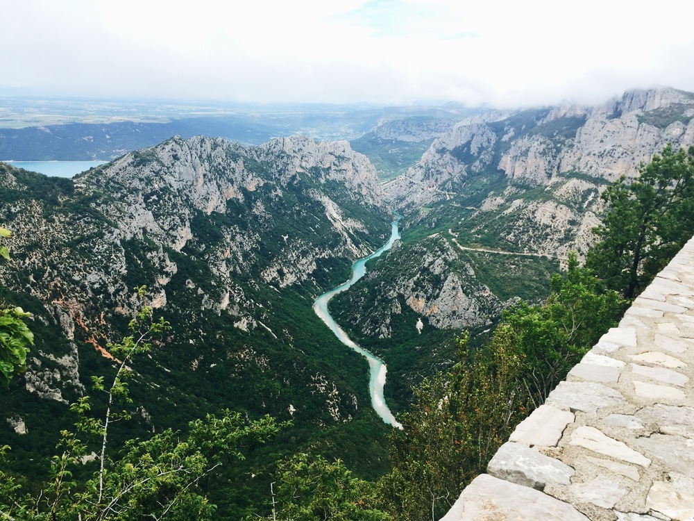 This is the view from halfway up the Gorge de Verdon- breathtaking, in more ways than one..