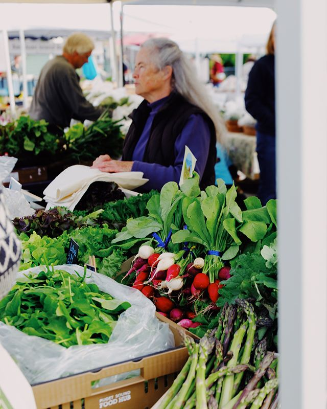 Have we talked recently about my affinity for markets and buckets full of greens?