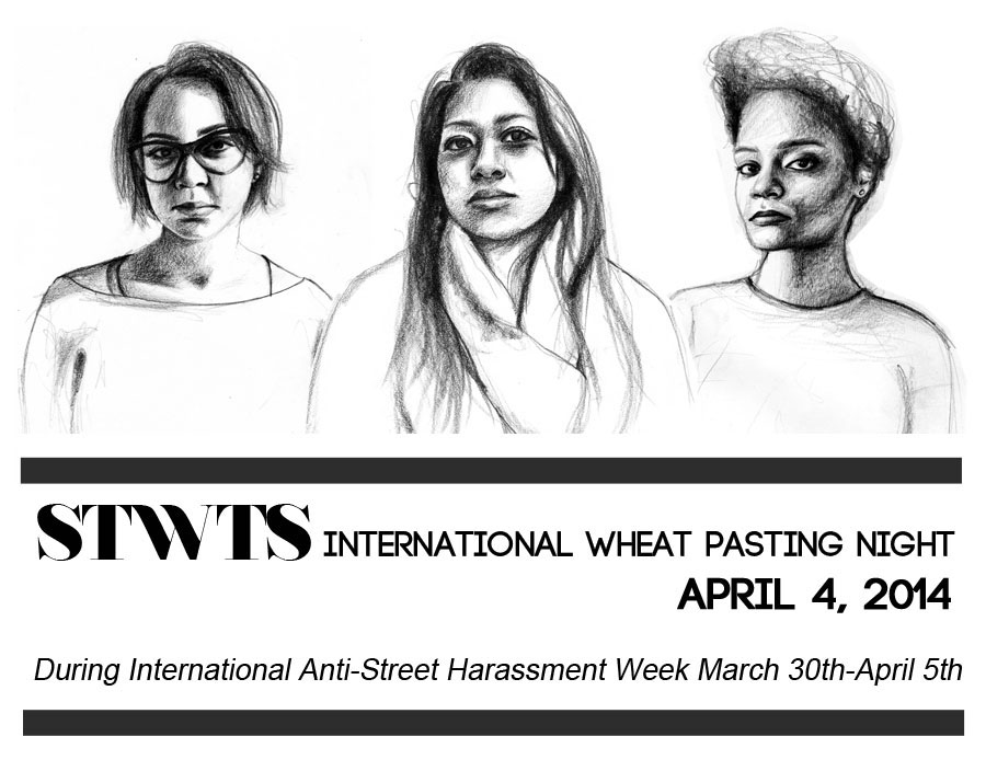 "We're already wholly behind the work of Tatyana Fazlalizadeh's ""Stop Telling Women To Smile"" campaign and now you can too: stoptellingwomentosmile: As part of International Anti-Street Harassment Week, Stop Telling Women to Smile is organizing an international wheat pasting night on Friday, April 4th, 2014. Individuals and organizations around the world are encouraged to form STWTS wheat pasting groups. A PDF will be released in order to download and print posters. So that on April 5th, walls across the world will bear the faces and words from women protesting street harassment. Request the download links for your own posters from the Stop Telling Women to Smile website!"