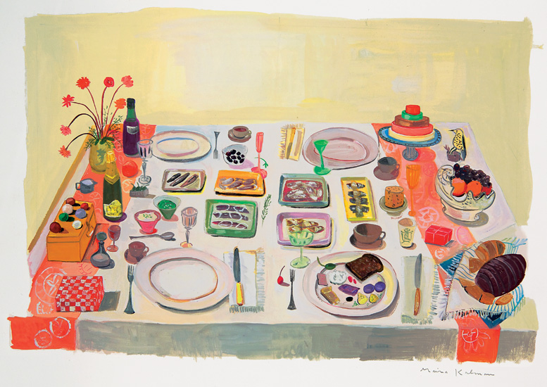 Got a Girl Crush On:  Maira Kalman 's re-imagining (and re-imaging!) of Michael Polan's   Food Rules: An Eater's Manual      Advice on eating your grandparents probably lived by now paired with whimsical illustrations–what's not to love?     **bonus: Maira also designed one of my  favorite umbrellas !     (via  1988-2011 )