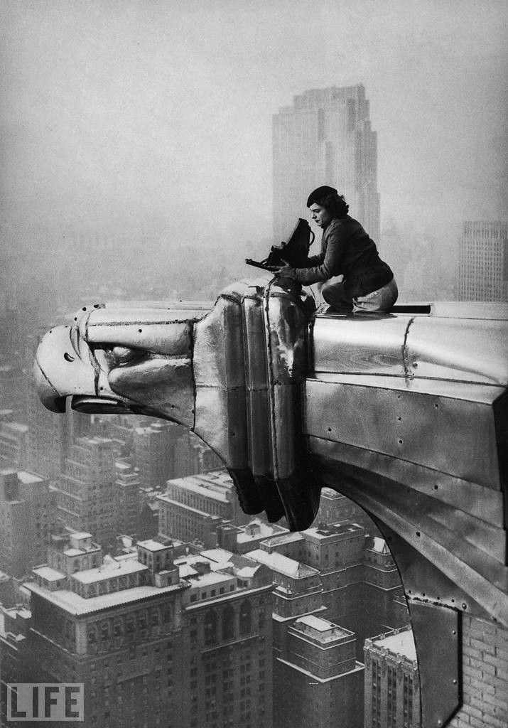 Got a Girl Crush On: one of the original LIFE photographers,Margaret Bourke-White    Just taking a photo on the teetering edge of the Chrysler Building in NYC. No big deal…   (via life )