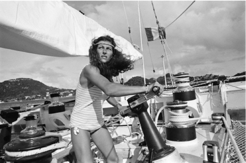 "Got A Girl Crush On: Florence Arthaud ""Photo of French sailor Florence Arthaud, winner of the The 1990 Route du Rhum (transatlantic single-handed yacht race), by Jean Guichard, 1982."" (via missmossblog: Tomboy Style)"