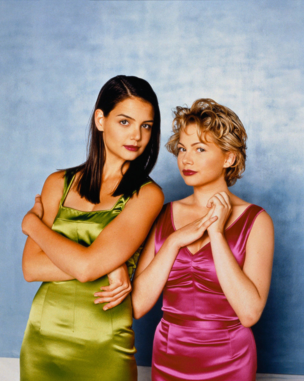 Got A Girl Crush On: Throwback Friday–old school Katie & Michelle 1998: when satin was hot. They so excited (via imbeccable)